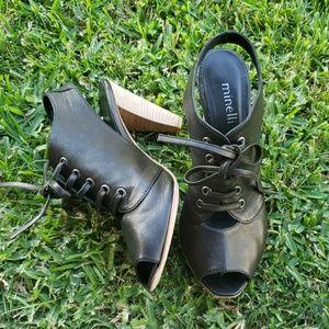 Minelli noir block heel